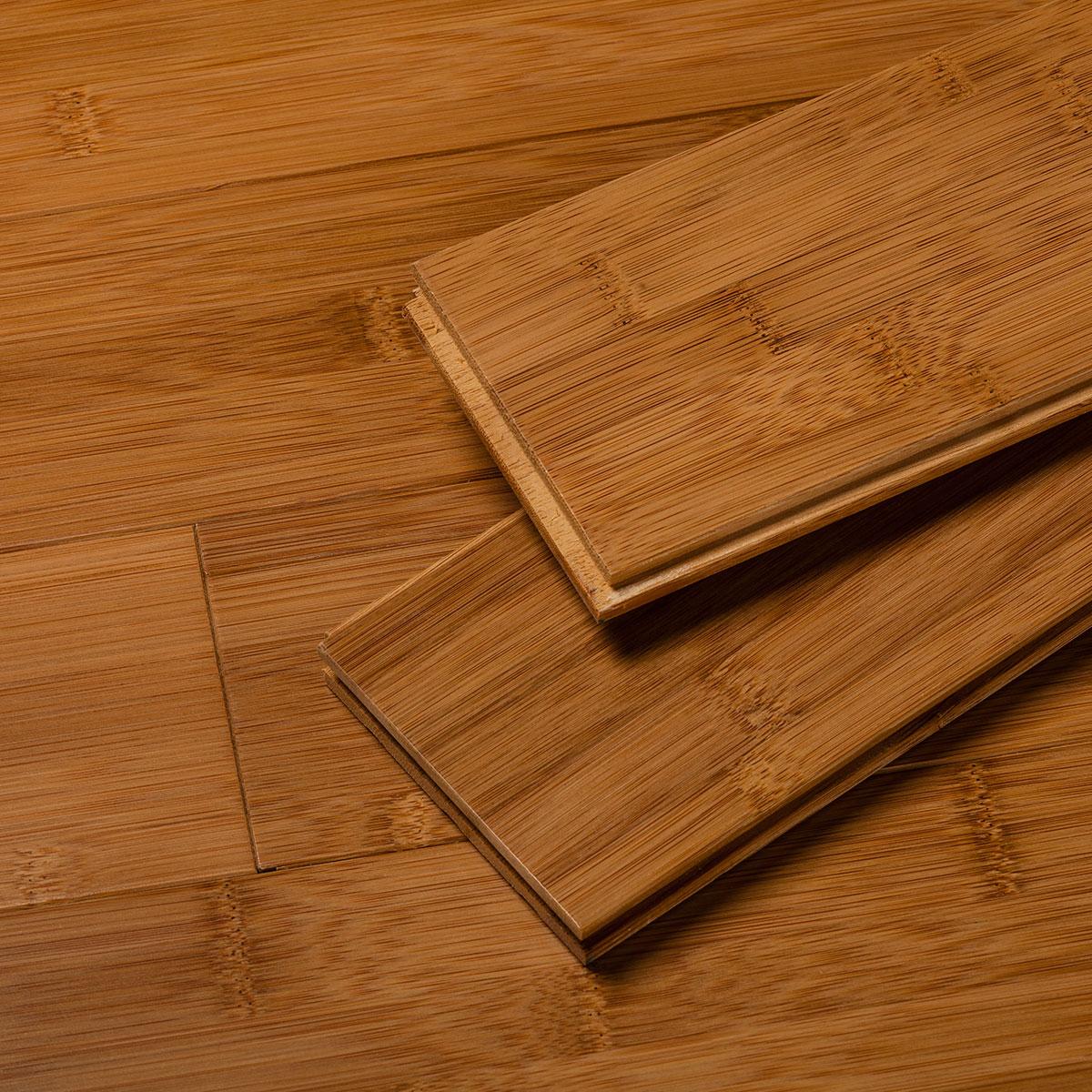 Amber Flat Grain Bamboo Flooring