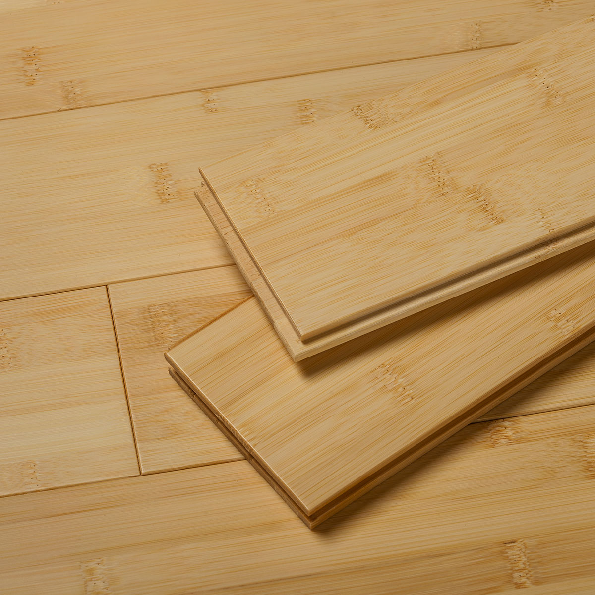 Natural Flat Grain Bamboo Flooring